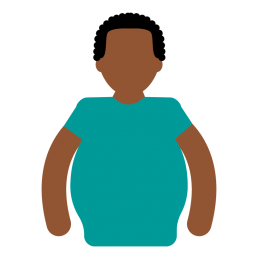 man with obesity icon